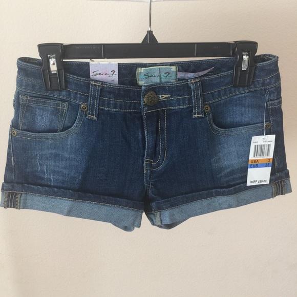Seven7 Pants - Seven7 Cuffed Jean Shorts